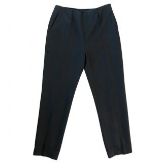 Paule Ka Black Virgin Wool Pants