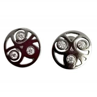 Bespoke Cred Openwork Diamond Earrings