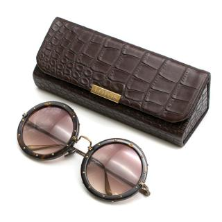 Lotos Luxury Eyewear Round Studded Sunglasses
