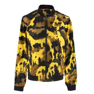 Prada Yellow Camouflage Nylon Bomber Jacket
