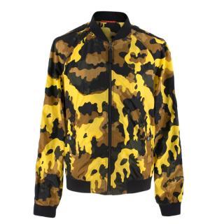 Prada Yellow Camouflage Nylon Bomber Jacket
