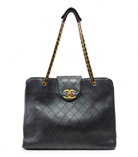 Chanel Large Vintage Quilted Weekend Tote