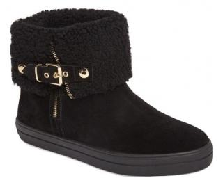 Burberry Black Sheepskin Lined Ankle Boots