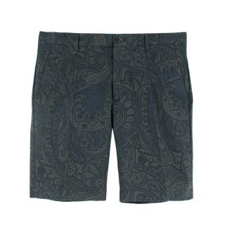 Etro Paisley Printed Tailored Shorts