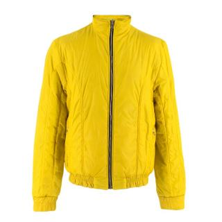 Prada Black & Yellow Reversible Nylon Jacket