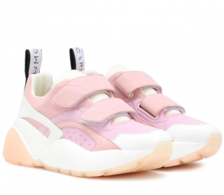 Stella McCartney Pink Leather & Suede Eclypse Sneakers