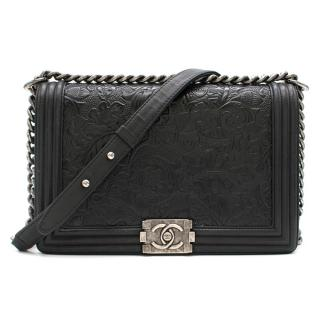 Chanel Paris/Dallas Cordoba Leaf Embossed Boy Bag