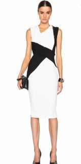 Victoria Beckham white fitted dress