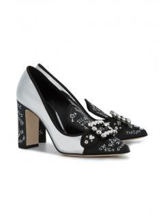 Dolce & Gabbana Black and Silver Bellucci Pumps