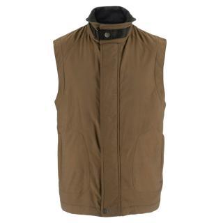 Zegna Sport Brown Microtene Vest