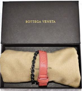 Bottega Veneta leather butterfly wrap around bracelet