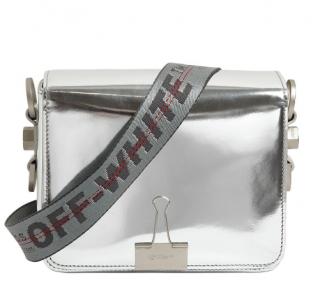 Off White c/o Virgil Abloh Binder Clip Mirror Leather Shoulder Bag