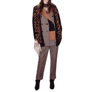 Sonia Rykiel current season oversized leopard cardigan