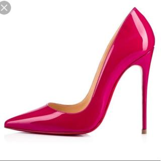 Christian Louboutin ultra rose pink patent pigalle 120mm pumps