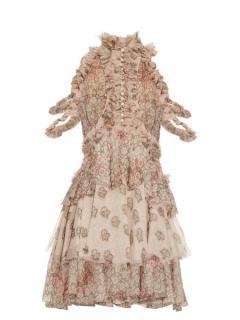 Alexander McQueen floral silk chiffon dress