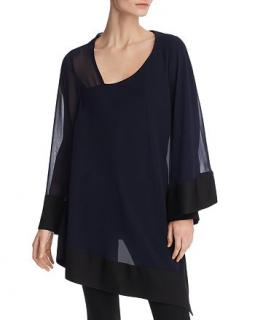 Donna Karan New York Asymmetric Layered Tunic