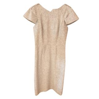 RM by Roland Mouret Fitted Oatmeal Dress