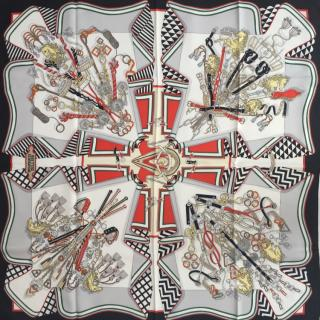 Hermes Bouquets Sellier Silk Scarf 90