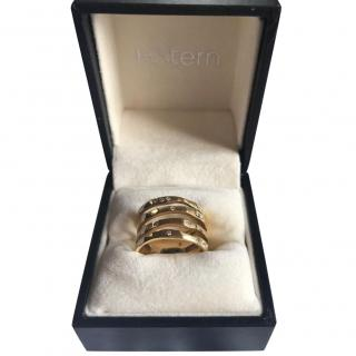 HStern gold and diamond four band ring