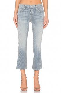 Current Elliott light blue wash Kick Jeans