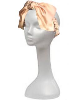 Maguy de Chadirac peach silk satin hairband
