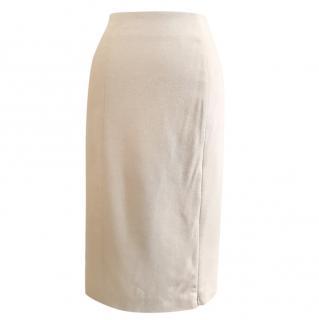 Mugler Wool, Angora & Cashmere Skirt