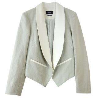Isabel Marant Linen Blend Jacket W/ Satin Lapels