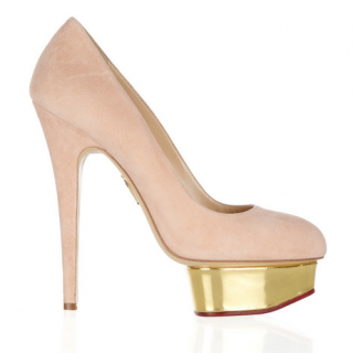Charlotte Olympia Dolly suede platform pumps