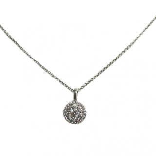 Bespoke Cred Diamond Halo Pendant Necklace