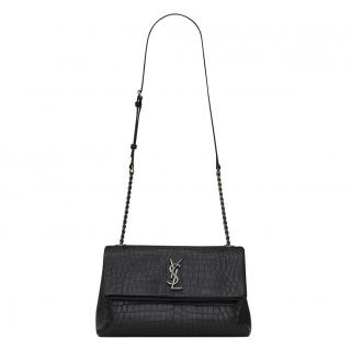 Saint Laurent Croc Embossed Medium West Hollywood Bag