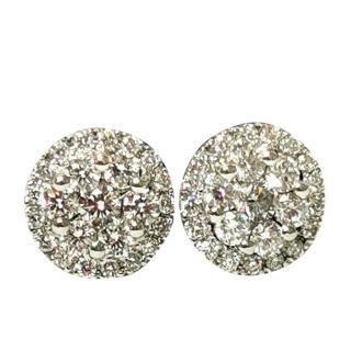 Bespoke Cred Diamond Halo Earrings