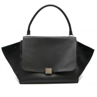 Celine Black Leather Trapeze Handbag