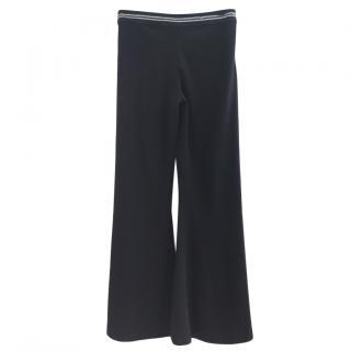 Class Cavalli Chain Trim Wide Leg Pants