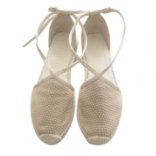 Jimmy Choo Dotted Cream Espadrilles