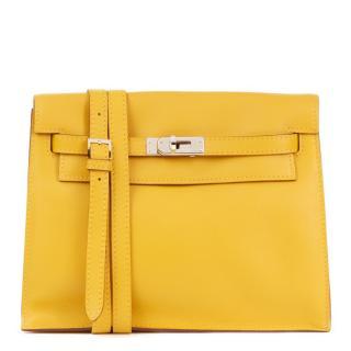 Hermes Swift leather Jaune D'or Kelly Danse Bag
