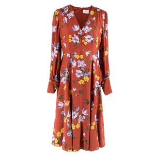 Erdem Osiris Printed Silk Dress