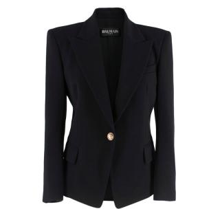 Balmain Black Wool Single Breasted Jacket