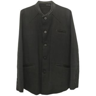 Isabel Benenato Linen Wool Coat
