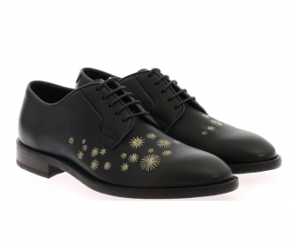 Paul Smith Navy Embroidered Derby Shoes