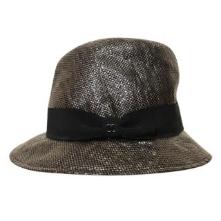 Chanel Woven Metallic Hat