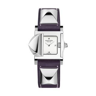 Hermes Etoupe Palladium Medor Watch