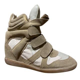 Isabel Marant Bekett Suede & Leather Wedge Sneakers