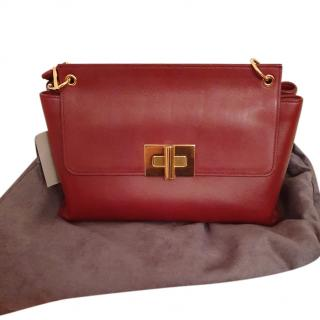 Tom Ford Red Natalia Calfskin Shoulder Bag