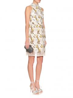 Erdem Dina Silk-organza Floral-embroidered Dress