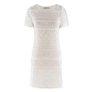 Emilio Pucci White Crochet Cotton Dress