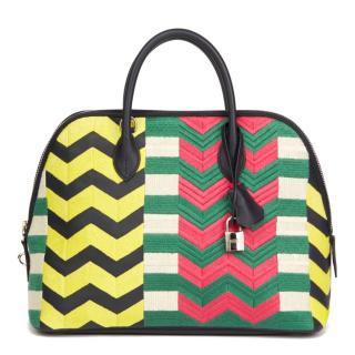 Hermes Embroidered1923 Bolide Bag