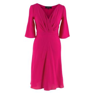 Gucci Pink Silk Dress Wrap Style Dress