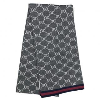 Gucci Reversible GG Wool Knit Scarf