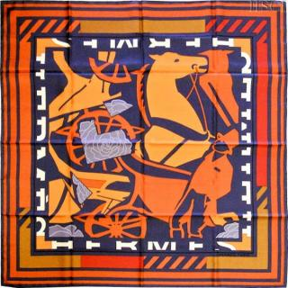 Hermes Puzzle Silk Scarf 90