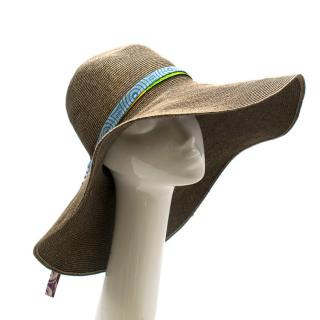 Albertus Swanepoel Brown Linen Floppy Hat